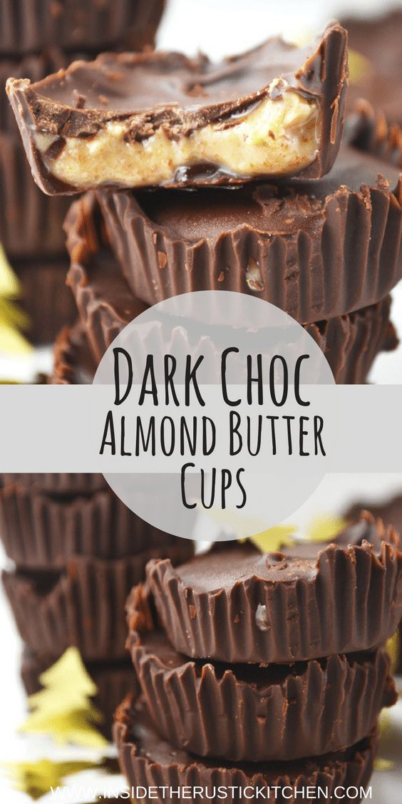These mini dark chocolate almond butter cups are the perfect sweet treat for your party spread. Everyone will love them