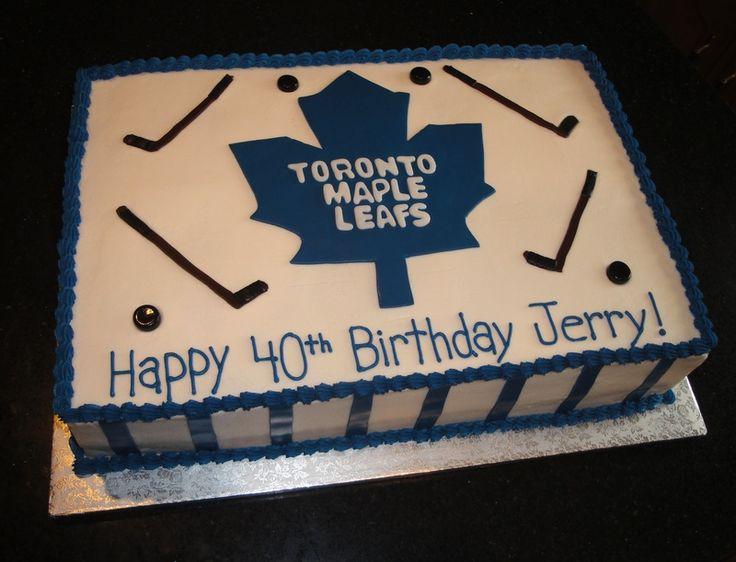 hockey themed birthday cakes Toronto Maple Leafs | Toronto Maple Leafs Theme 40th Birthday Cake