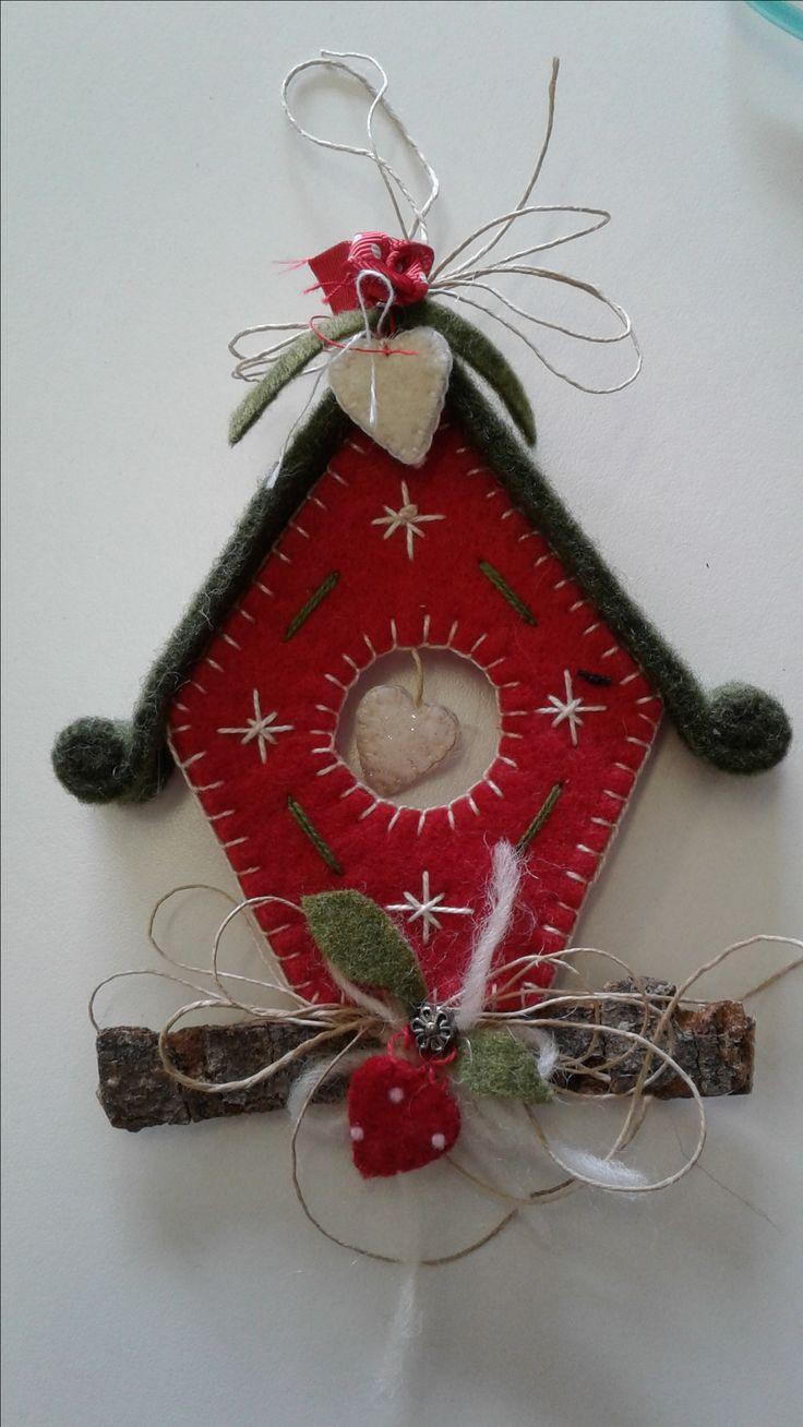 Casetta decorazione feltro Natale