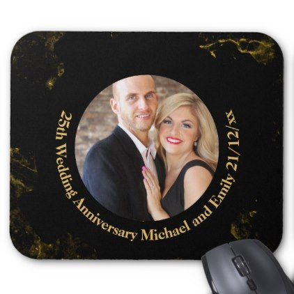 PHOTO Wedding Anniversary Gift Under $15 Mouse Pad - anniversary cyo diy gift idea presents party celebration
