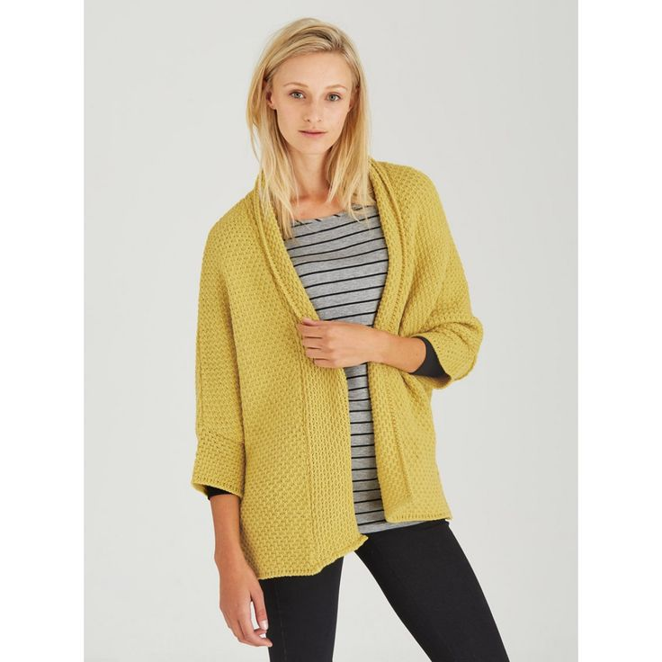 Cocoon Cardigan Yellow