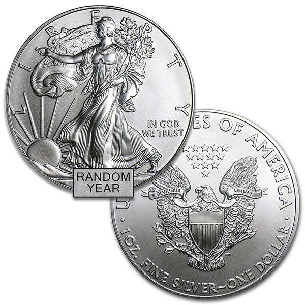Silver American Eagle Random Year Bu Silver Eagle Coins Silver Bullion Coins American Silver Eagle