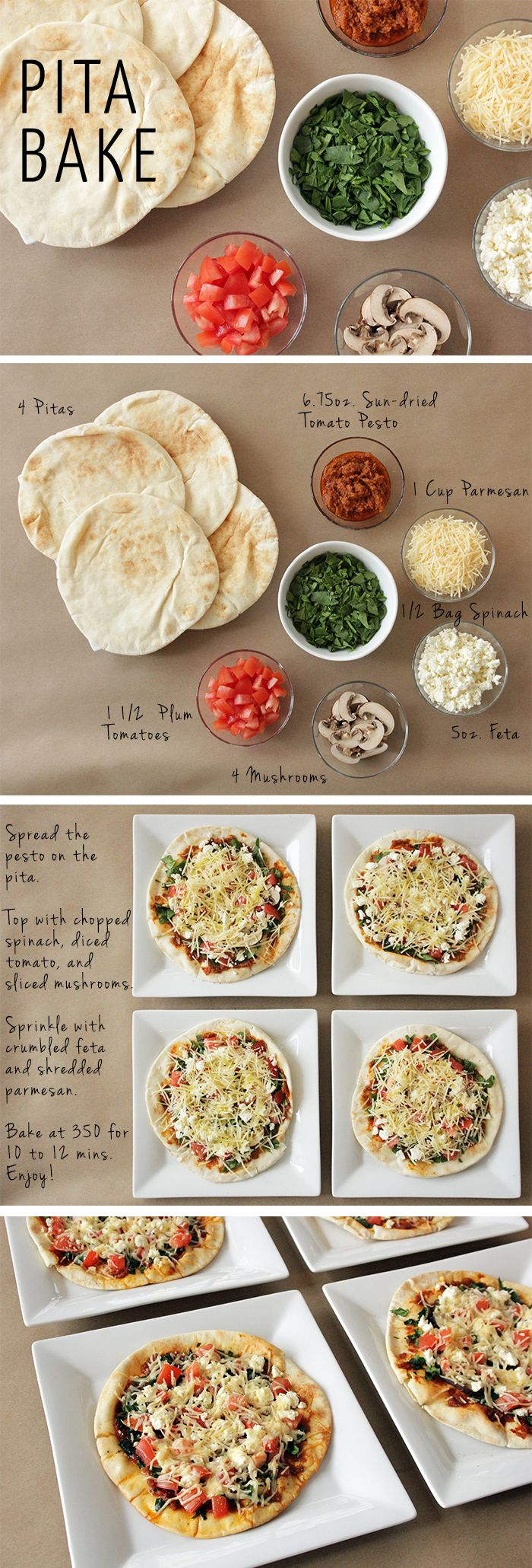 My New Alternative to Pizza: Pita Bake #HealthyEating #EasyRecipe #HealthyPizza