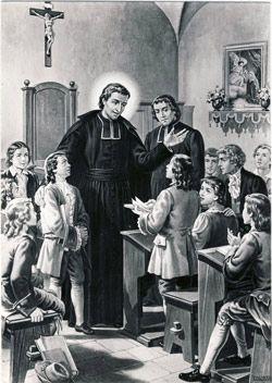 St. Louis de Montfort, Roman Catholic Priest and  founder of the Sisters of Divine Wisdom. Feastday April 28