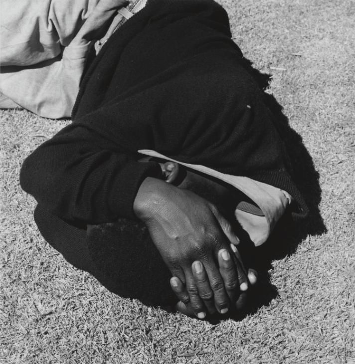 David Goldblatt 'Man Sleeping. Joubert Park, Johannesburg', 1975, printed 2013 © David Goldblatt