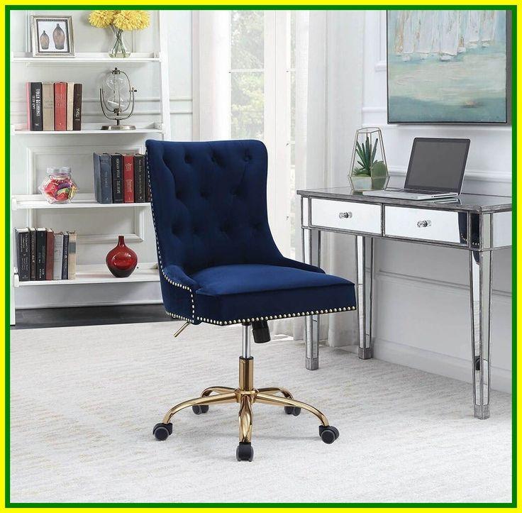 rust velvet office chair