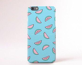 Navy iPhone 6 Case Peach Chevron iPhone 5 Case by casesbycsera