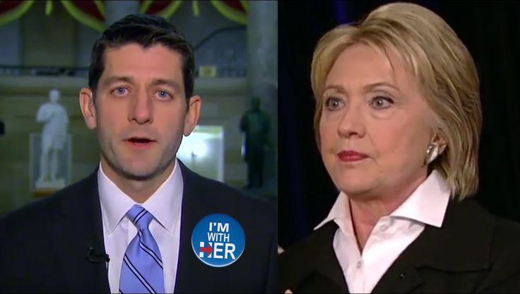 Paul Ryan Endorses Hillary Clinton - Republican Speaker of the House Fav...
