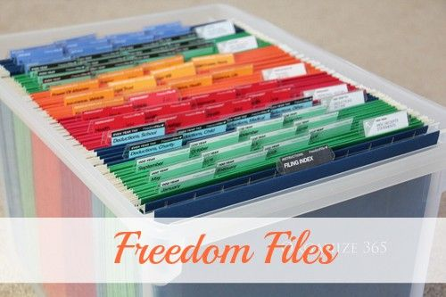 Freedom Files - My Choice for Paper File Organization | Organize 365