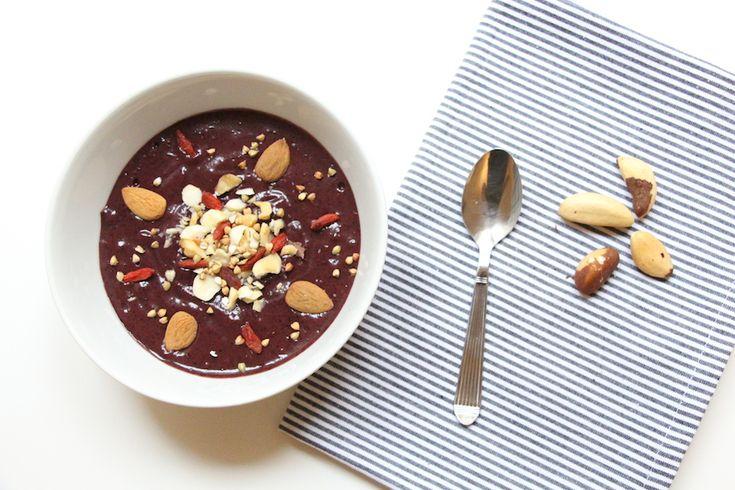 Smoothie bowl banane cacao myrtille | Morgane Who