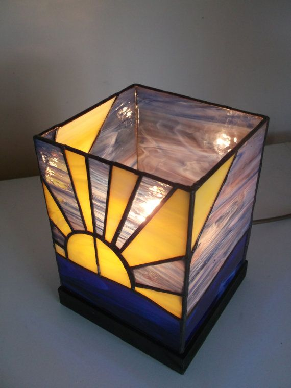 Stained glass sunset light