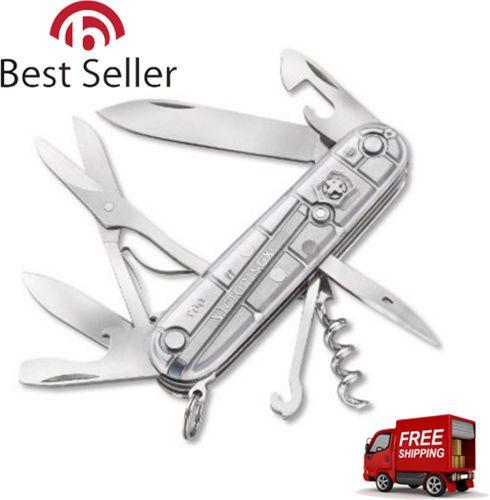 Original Swiss Army Climber Pocket Knife 13 Tools Blades Screwdriver Transparent #Victorinox