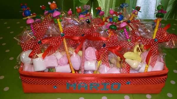 Sacchetti di marshmallows con matita