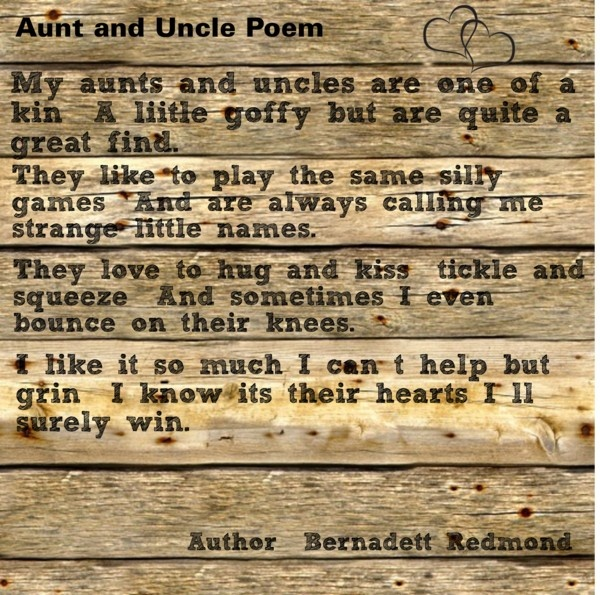 aunt and uncle poem i love all of my aunts uncles but. Black Bedroom Furniture Sets. Home Design Ideas