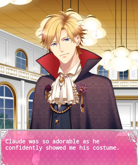 the cinderella contract cinderella contract prince claude flanelia cecil claude alexis flanelia victor trieste im sorry its hilarious i loved this event so much claude was very serious about his costume he even had fangs he won the halloween event tbh the 2nd one was lugar arithmetic   tsunbath.tumblr.com