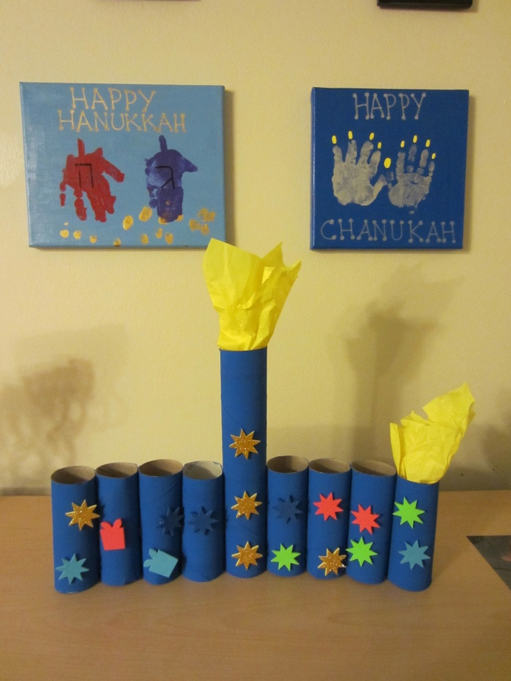 Dreidel and menorah handprint art hanukkah crafting for Hanukkah crafts for adults