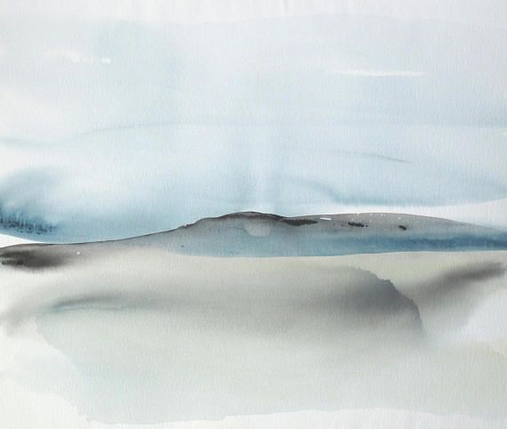 Large Original Abstract Landscape Watercolor painting