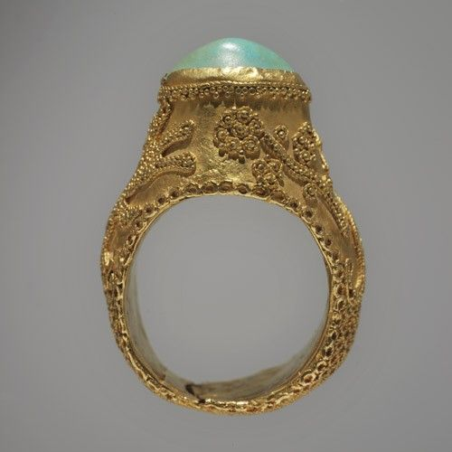 13th Century Persian Ring Gold And Turquoise Museum Of