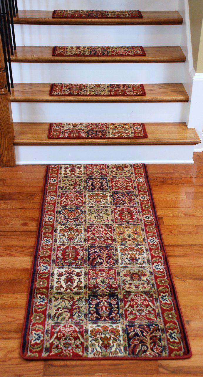 Premium Carpet Stair Treads Panel Red Plus A Matching 5 Runner Carpet Stair Treads Stair Runner Carpet Stair Treads