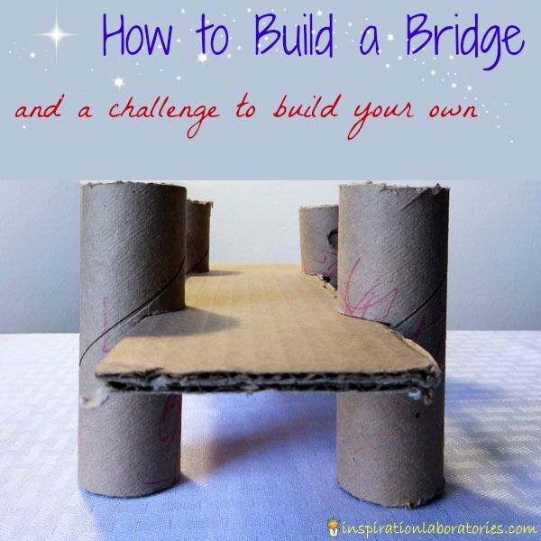How to Build a Cardboard Bridge and the Challenge and Discover link up. We challenge you to build a bridge with your kids and share what you did!