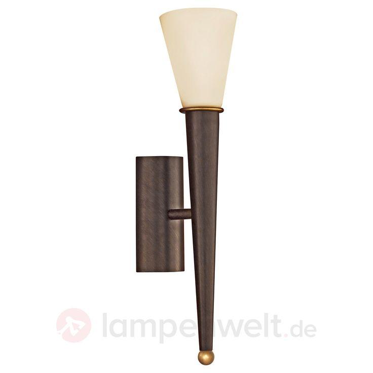 Wandfackel Merna, 1-flammig, antikbraun kaufen   Lampenwelt.de