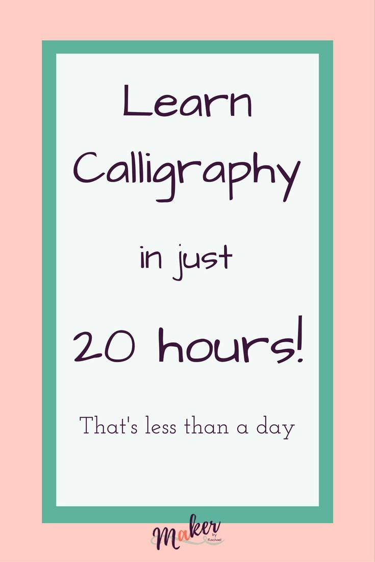 25 best learn calligraphy ideas on pinterest Where to learn calligraphy