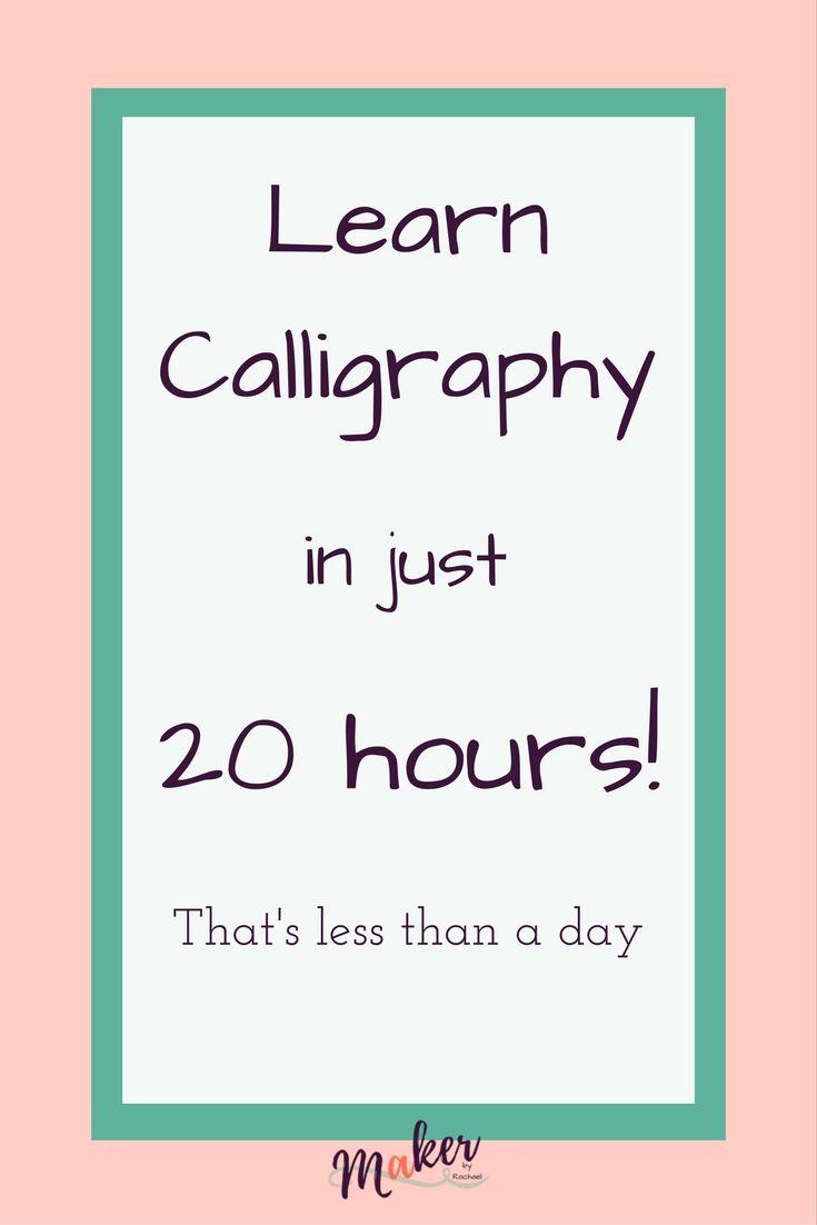 25 Best Learn Calligraphy Ideas On Pinterest