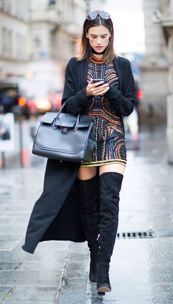 Street style look Alessandra Ambrósio