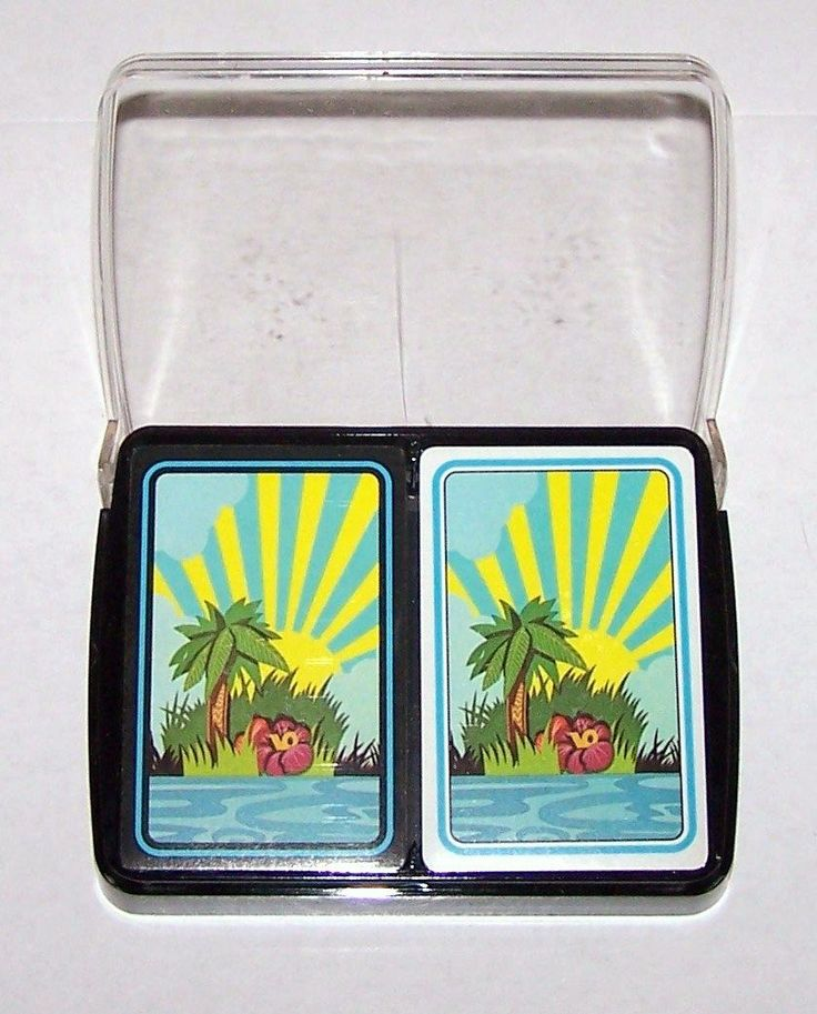 """Double Deck USPC (Standard) """"Island Records"""" Playing Cards, c.1970 from twoforhisheels on Ruby Lane"""