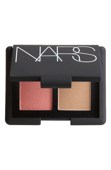 NARS Mini Blush & Bronzer Duo (The Blush-Bronzer Duo unites NARS' cult favorites Orgasm Blush and Laguna Bronzing Powder in one coveted compact. Flattering on any skin tone, the peachy-pink shimmer of Orgasm Blush highlights cheeks with a fresh, natural flush, while the sheer light-brown golden shimmer of Laguna Bronzing Powder contours and adds warmth.)