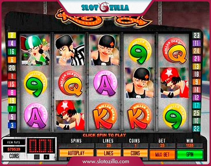 Roller Derby free #slot_machine #game presented by www.Slotozilla.com - World's biggest source of #free_slots where you can play slots for fun, free of charge, instantly online (no download or registration required) . So, spin some reels at Slotozilla! Roller Derby slots direct link: http://www.slotozilla.com/free-slots/roller-derby