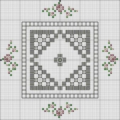Flowers in the Garden - Lee Albrecht: Free Hardanger pattern