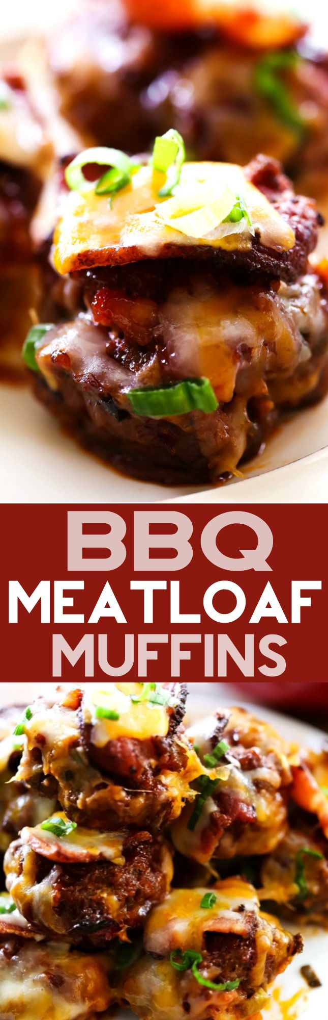 BBQ Meatloaf Muffins... This is such a flavorful and hearty meal! Each meatloaf muffin is personal sized and loaded with bacon, bbq sauce and an array of yummy ingredients! This will become a new family favorite!
