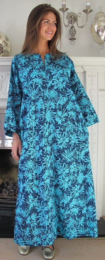 Add a splash of colour to your Cruise Collection with this endlessly versatile cool cotton kaftan.