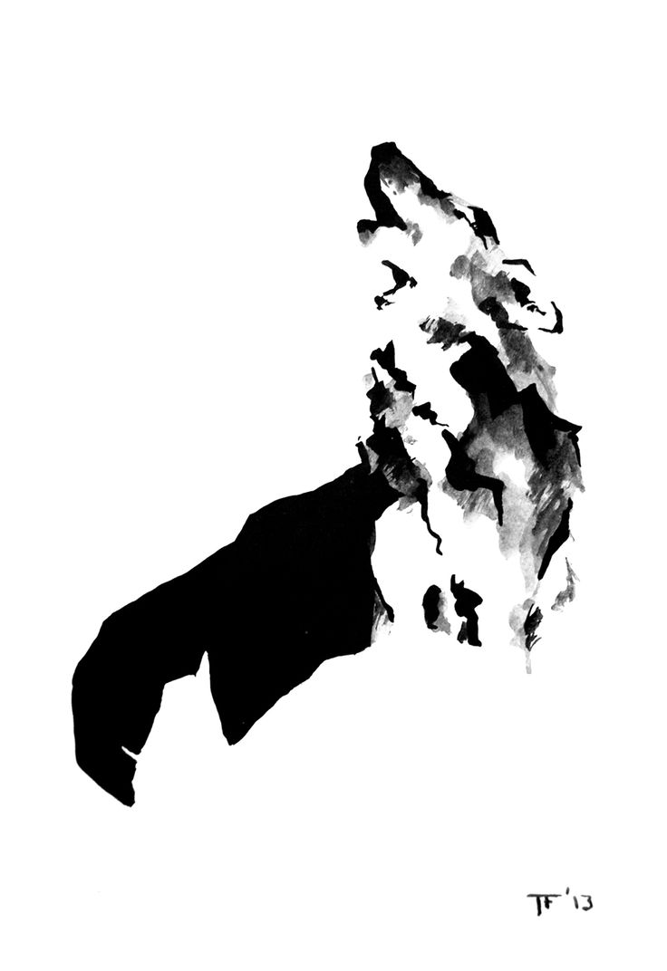 Ink Wolf By Tina Furesz