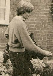 January 8, 1981:  Lady Diana Spencer leaving the home of Nick Gasalee after breakfast, having watched Prince Charles early morning ride. Spotted by James Whittaker, Tim Graham and Steve Wood. It was a sign the romance was not cooling.