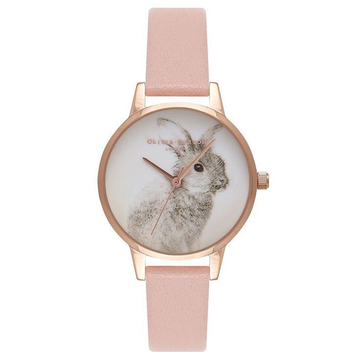 Woodland Bunny Dusty Pink Watch by Olivia Burton