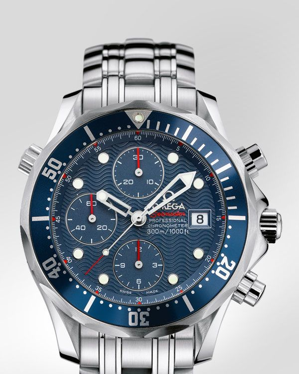 Omega Seamaster 300M Chrono Diver with unique Helium escape valve!