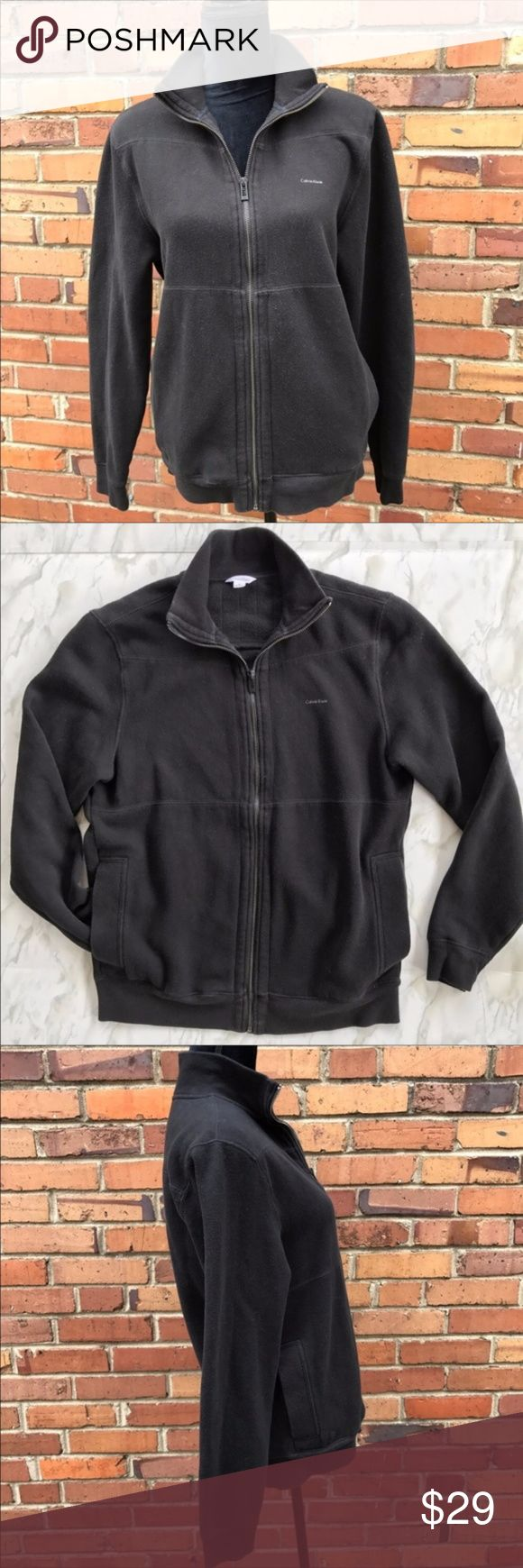 Calvin Klein Logo Zip Up Black Jacket Size Small Stay warm while looking cool with this Calvin Klein jacket. The timeless and subtle Calvin Klein logo never goes out of style so this will last you for many seasons. Grow it over your yoga tank, leave it half zipped over a t-shirt, or layer it under a bomber jacket, no matter how you style it you'll have that cool and classic Calvin look. Preowned from a smoke free home, in excellent used condition. Check out the other items in my closet and…