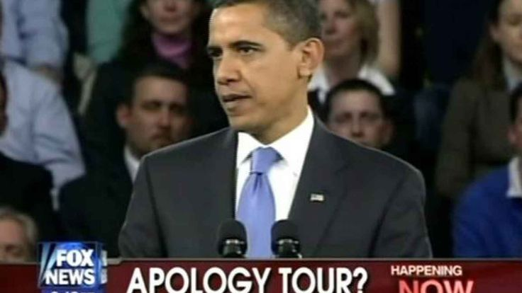 Obama apologizes to world for causing global warming. Apologizing for America is what Obama does best