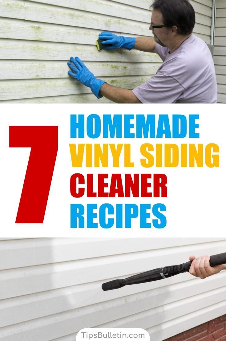7 Homemade Vinyl Siding Cleaner Recipes | TipsBulletin