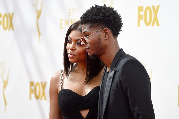 Actress Taraji P. Henson (L) and Marcel Henson attend the 67th Annual Primetime Emmy Awards at Microsoft Theater on September 20, 2015 in Los Angeles, California.