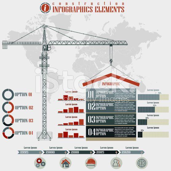 Construction  Infographics elements grafiki wektorowe typu royalty-free