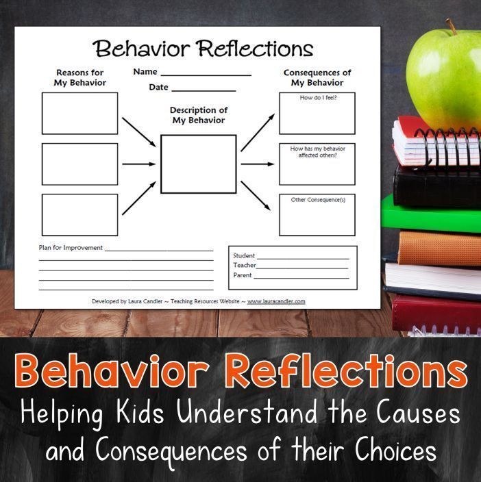 Best classroom management tool ever! This Behavior Reflections freebie is a great way to handle student misbehavior. Having kids fill out this graphic organizer helps them understand why they engage in disruptive behaviors as well as the consequences of t