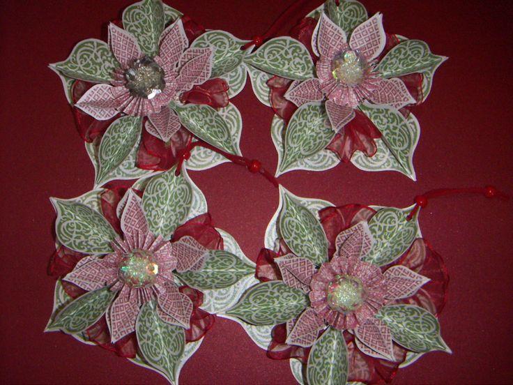 decoración flor navidad