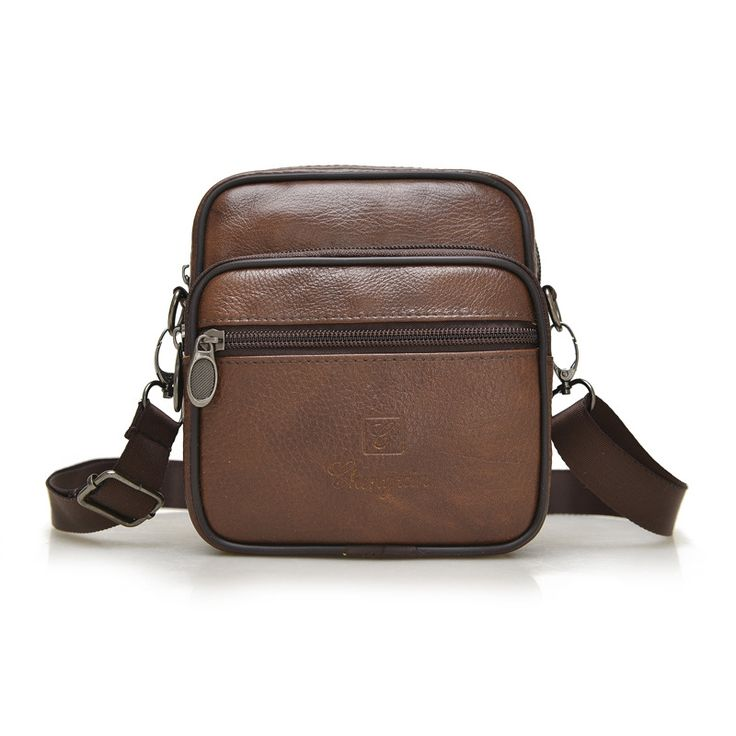 New! High quality real leather man bag small shoulder bag retro fashion business style upscale small square bag messenger bag