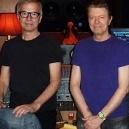Tony Visconti,David Bowie, and Brian Thorn at The Magic Shop Recording Studio.