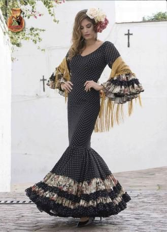 Traje de Flamenca. Modelo Zambra. 2017-2018