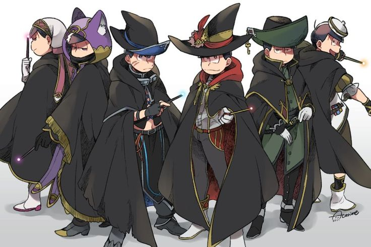 Osomatsu-san || Todomatsu, Ichimatsu, Karamatsu, Osomatsu, Choromatsu, Jyushimatsu.