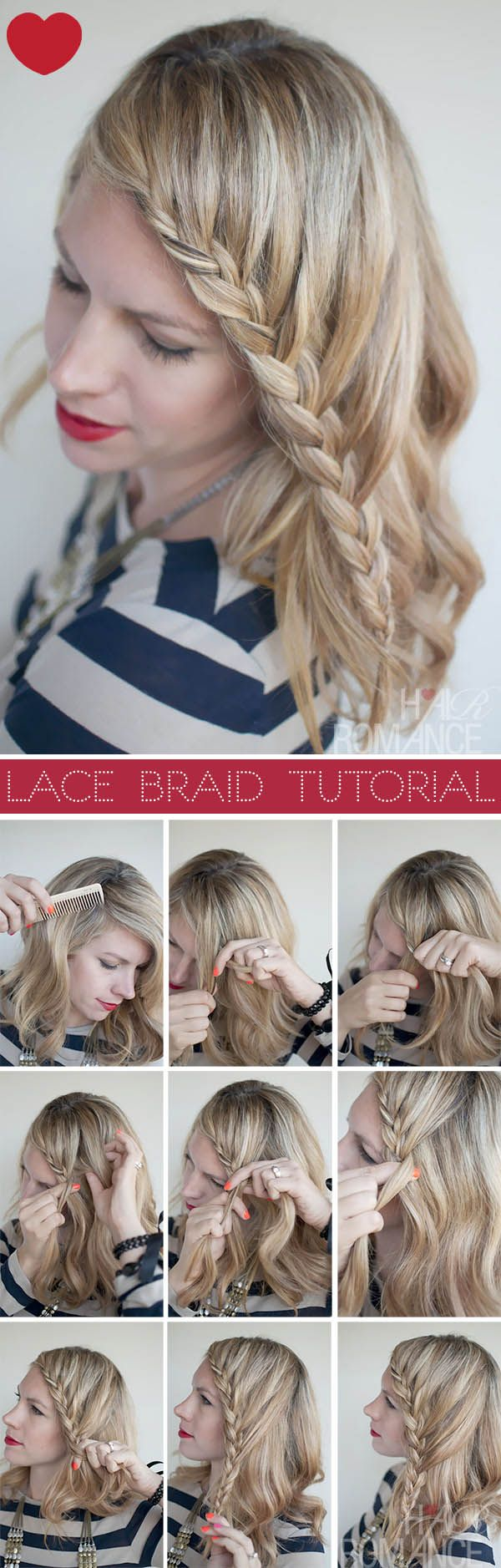Hair Romance - Lace Braid Hairstyle Tutorial